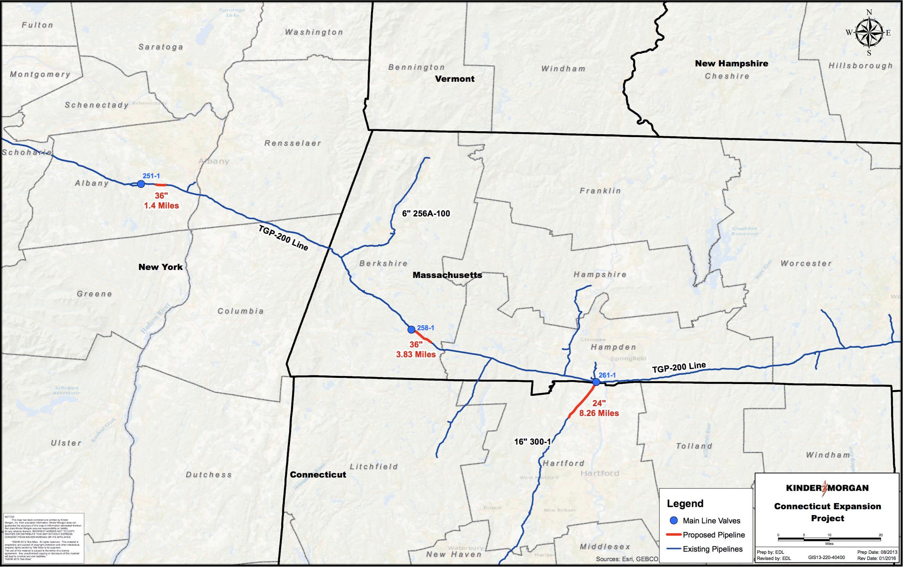 Connecticut Expansion Project map