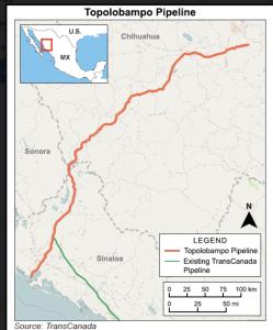 Topolobampo Pipeline Map