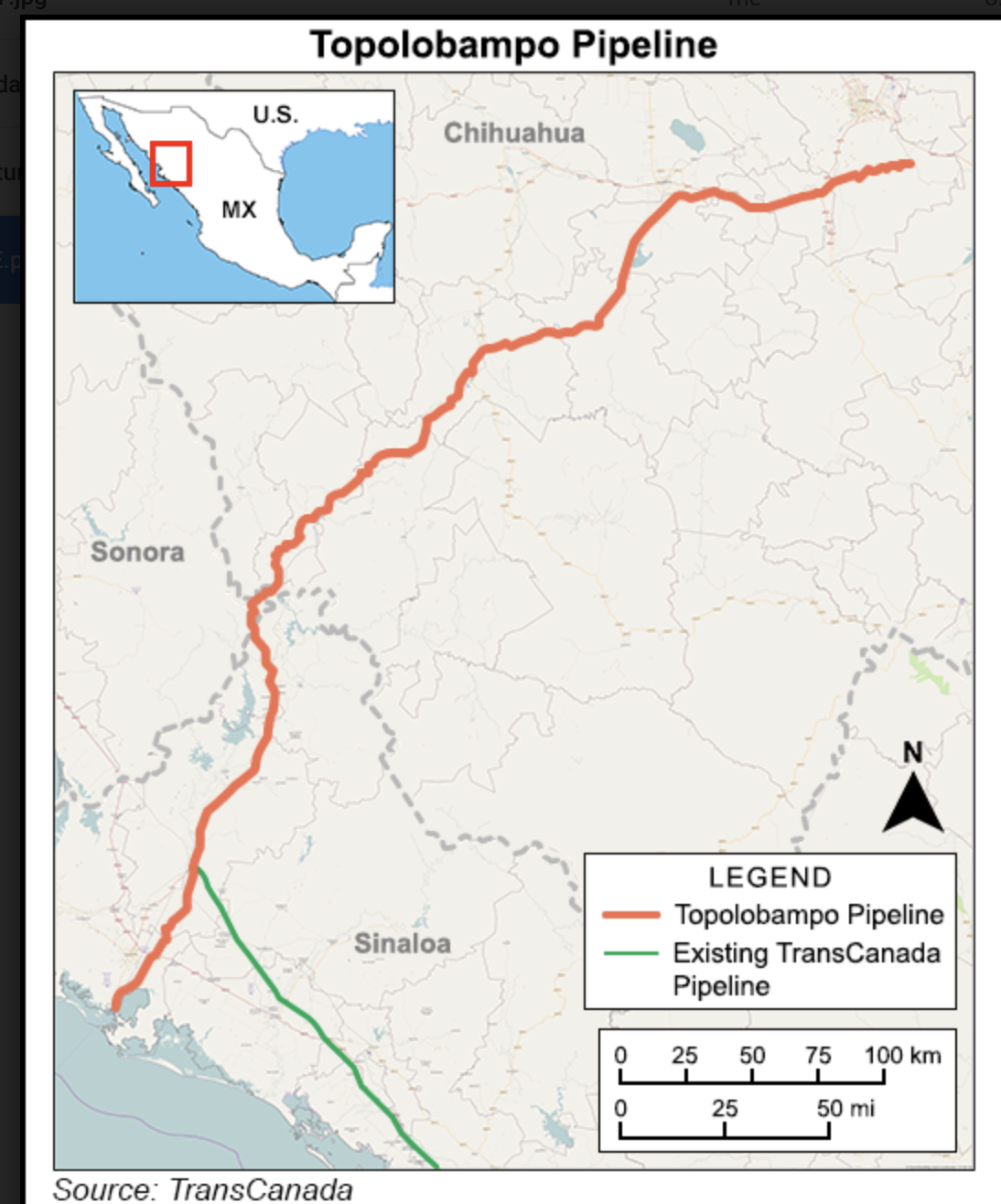 Topolobampo Pipeline Map