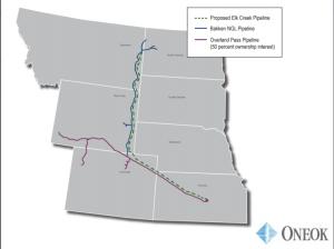 Elk Creek Pipeline map