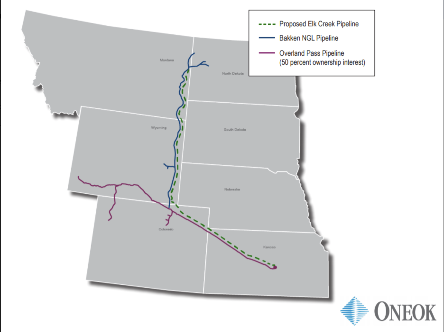 Elk Creek Pipeline map