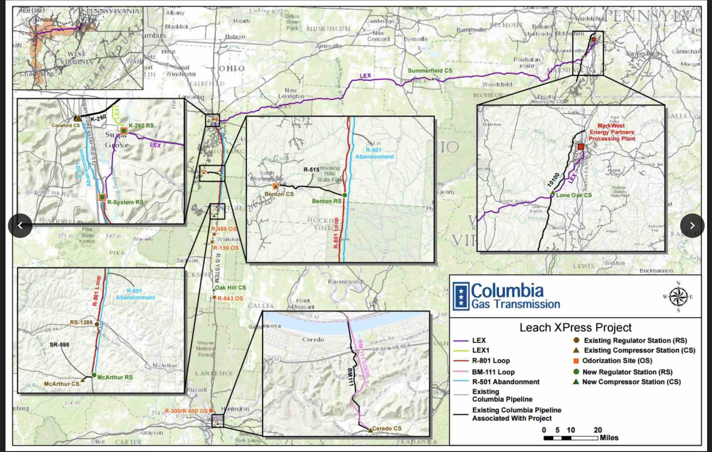 Leach XPress Pipeline map