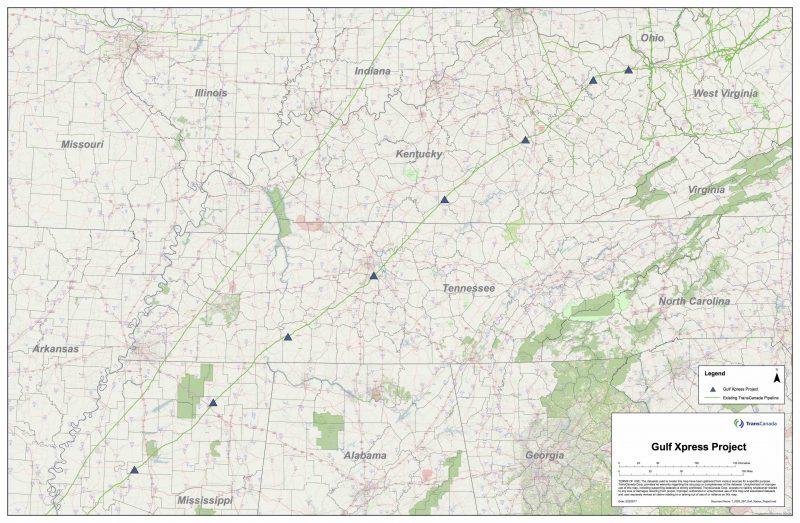 transcanada-gulf-xpress map