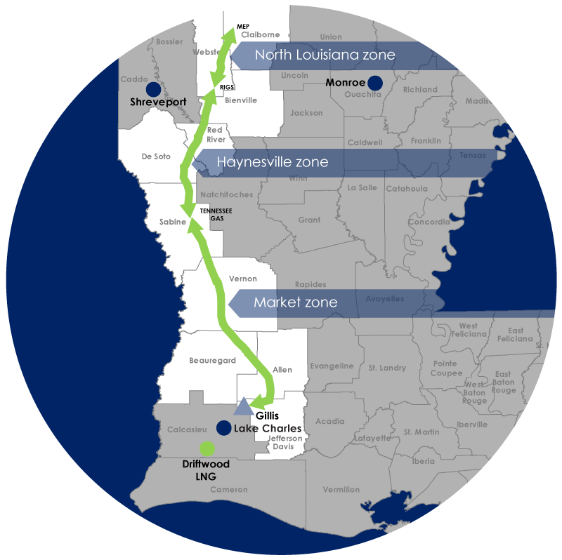Haynesville Global Access Pipeline map