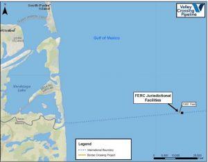 Border Crossing Project map. Photo courtesy of FERC.