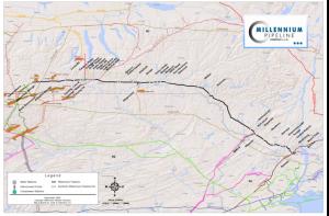 Millennium Pipeline map