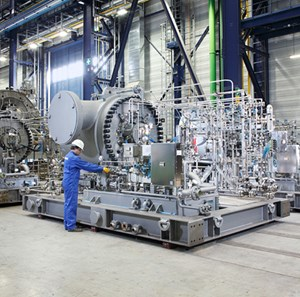Siemens STC-SV single-shaft pipeline compressor.  Photo courtesy of Siemens.