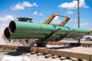 Agua Blanca Pipeline construction. Photo courtesy of WhiteWater Midstream.