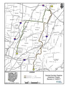 Central Corridor Pipeline Map
