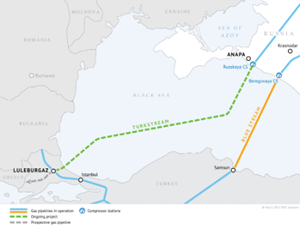 TurkStream Pipeline map. Photo courtesy of Gazprom.