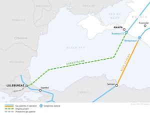 TurkStream Pipeline map. Photo courtesy of Gazprom.