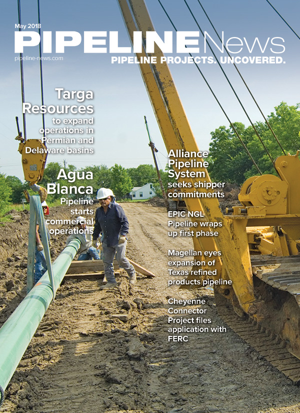 Pipeline News May 2018 cover