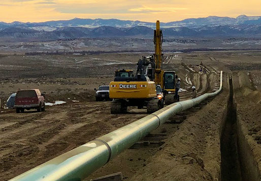Steamboat wet gas gathering pipeline (Photo courtesy of Meritage Midstream)