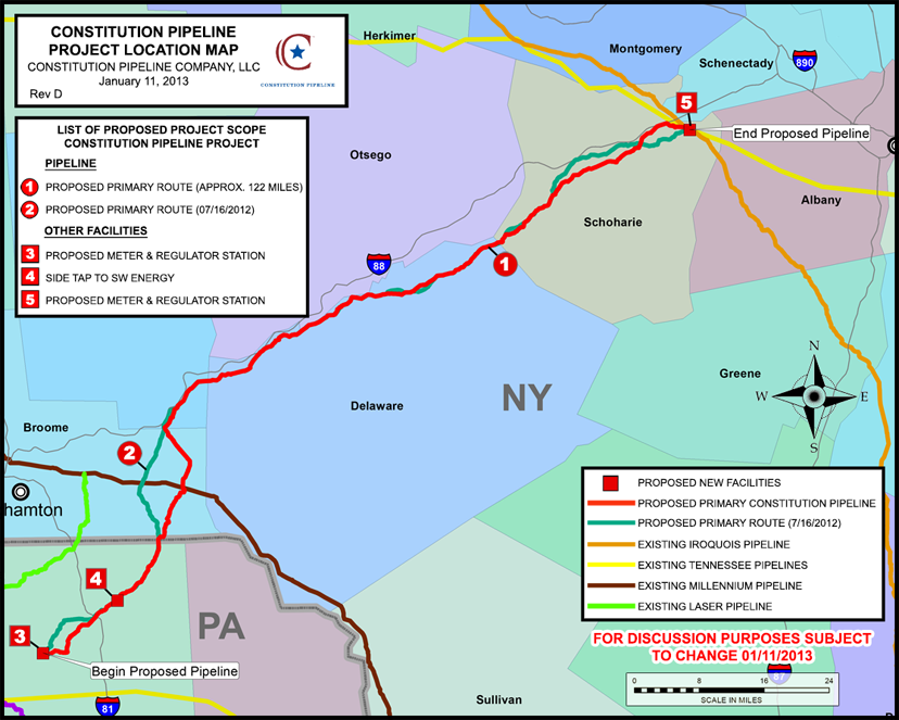 Constitution Pipeline Map
