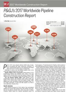 2017 pipeline construction report