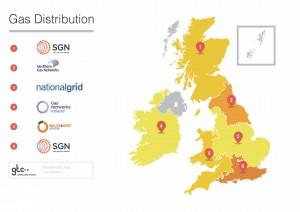 Figure 2:  The regional gas distribution network.
