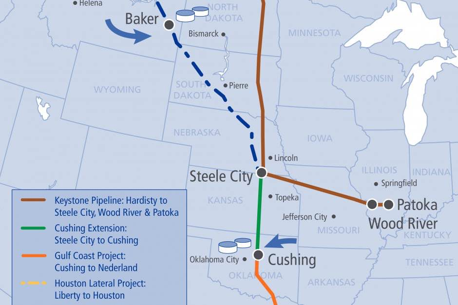 Keystone Pipeline Wont Have To Be Built Using US Steel - Map of us pipeline system