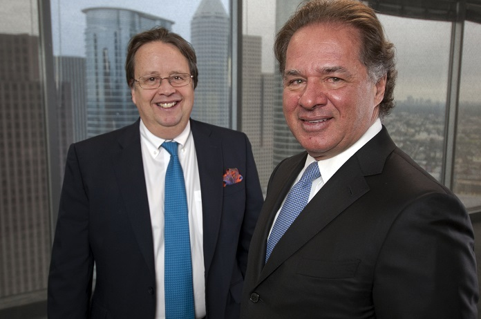 Cutline Martin Houston (left) and Charif Souki , founding new  LNG export company called Tellurian Investments (Photo: Business Wire)