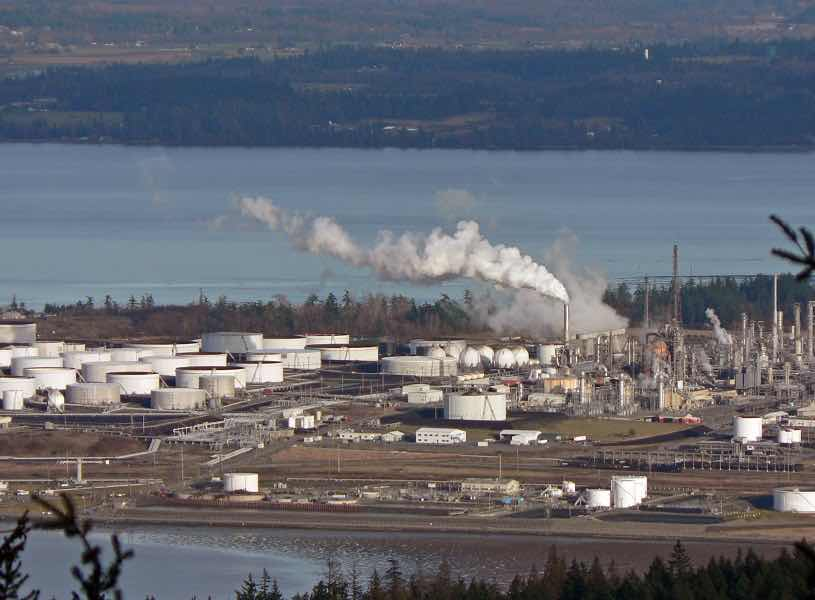 The Anacortes Refinery in Washington triggered large-scale protests.