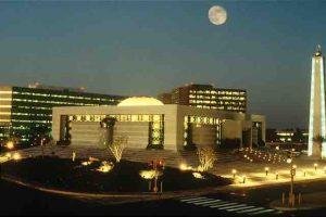 Saudi Aramco's core area in Dhahran.
