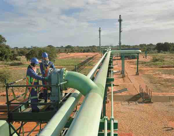 A Sasol gas pipeline in Mozambique