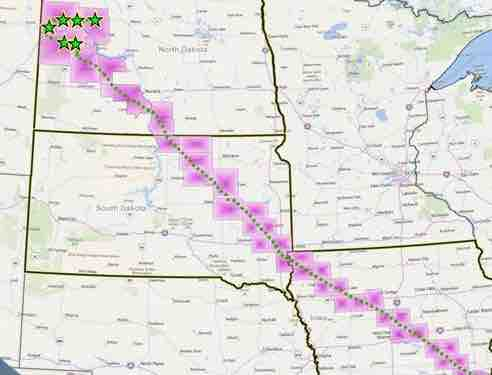 dakota access pipeline map