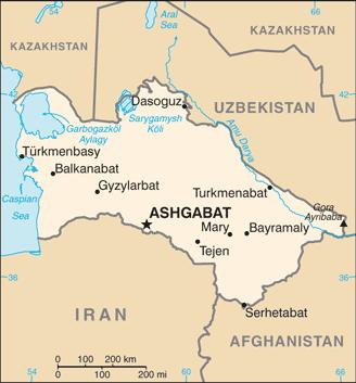 Turkmenistan-map