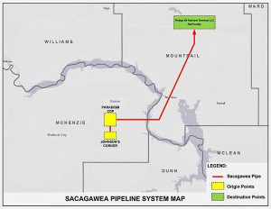 Sacagawea pipeline map