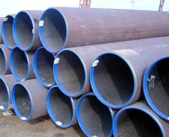 Pipe ready to be used for a pipeline construction project.