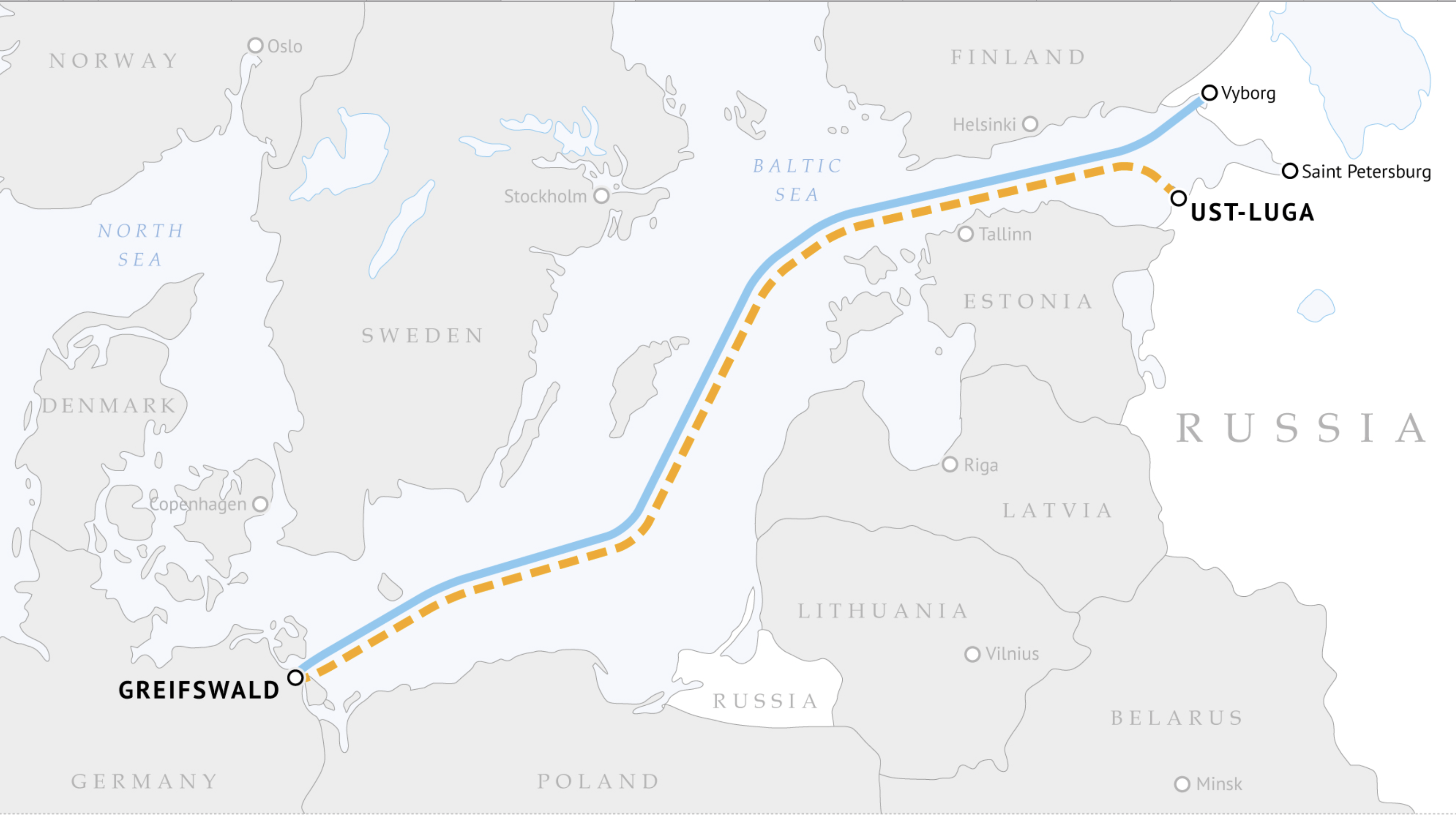 Nord Stream 2 Pipeline Map