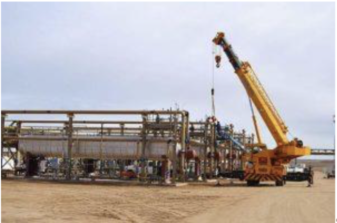 In November 2015, Anadarko's centralized oil stabilization facility was under construction.The facility has since been completed.