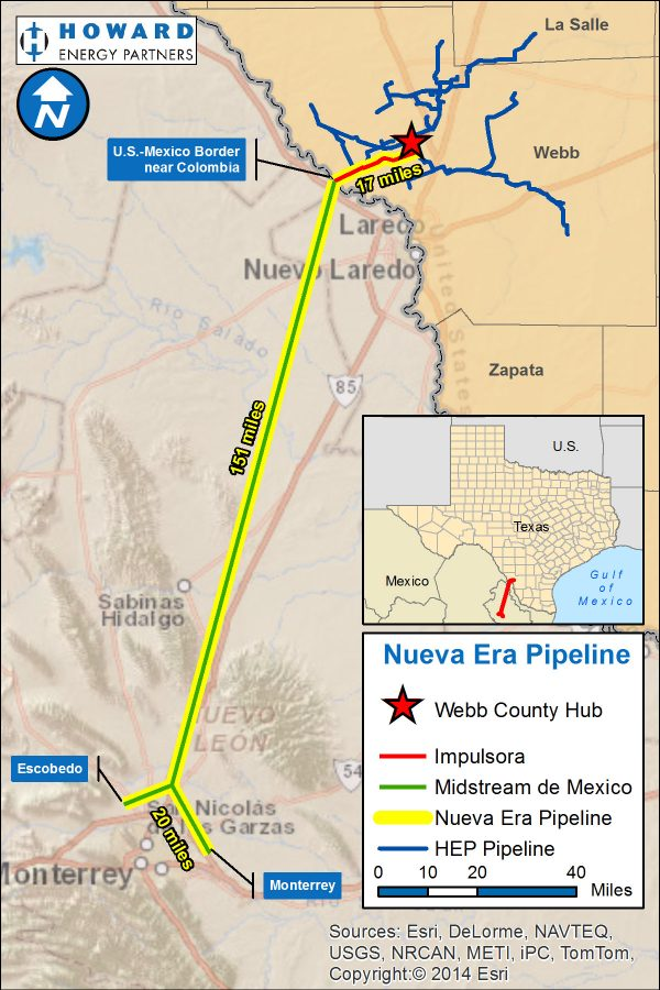 Impulsora Crossing Project map (part of Nueva Era Pipeline Project)