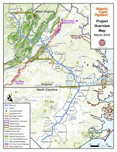 Atlantic Coast Pipeline map