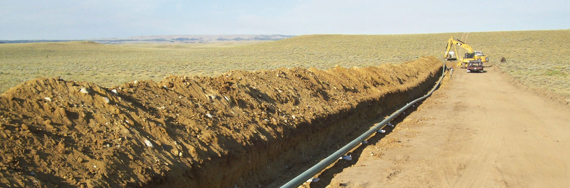 Photo of Grieve Pipeline, courtesy of Elk Petroleum.