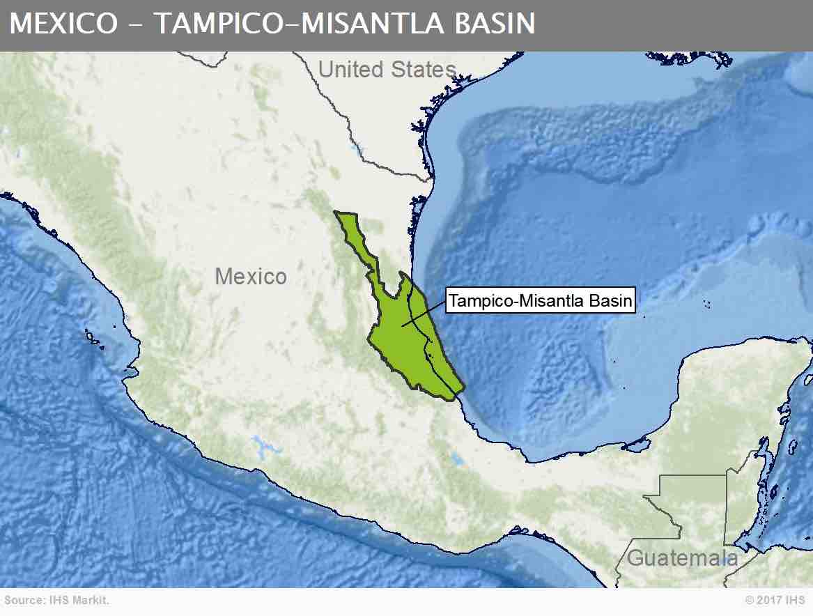 The Tampico-Misantla Basin in Mexico could be one of 24 global onshore 'Super Basins' that IHS Markit has identified. (Graphic by Business Wire)