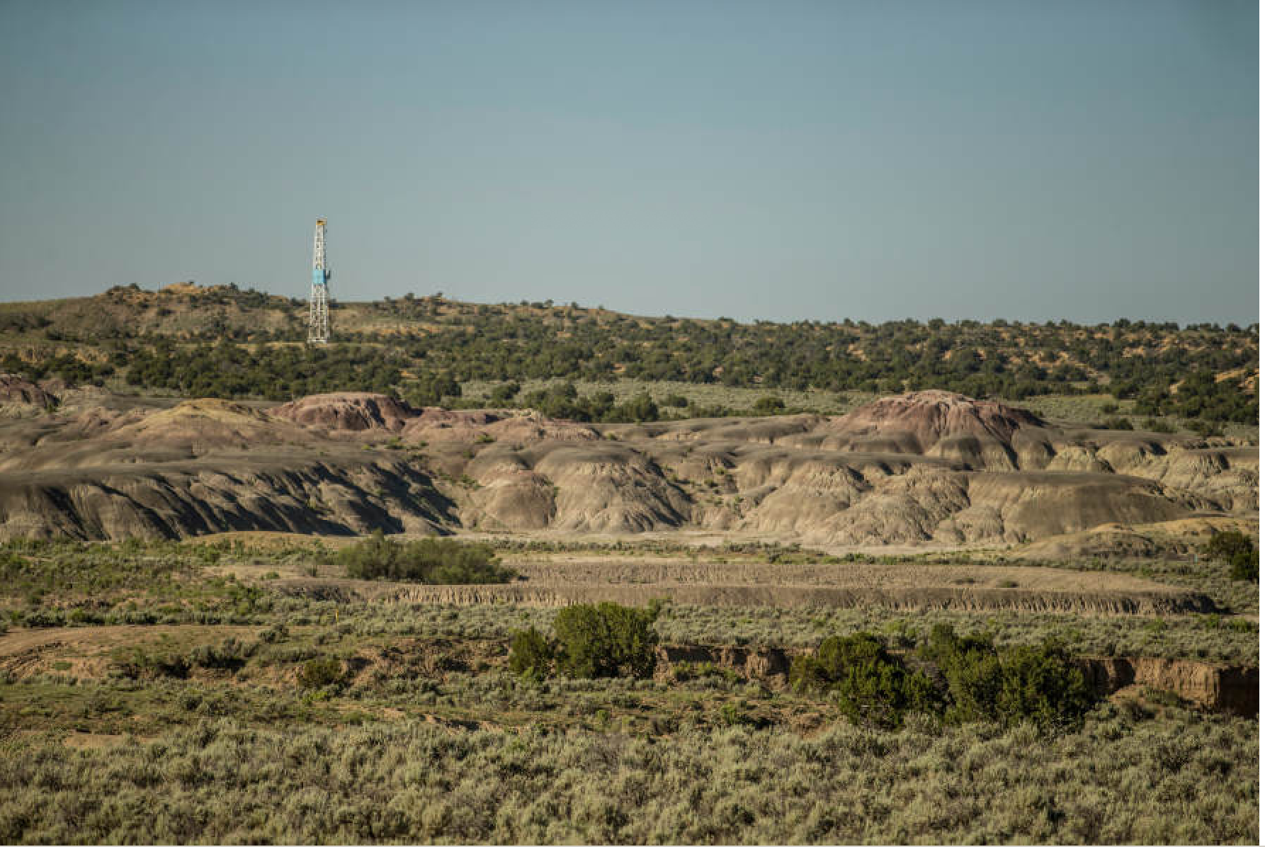 WPX produces oil in the southern end of the San Juan Basin from the Gallup Sandstone and has a legacy natural gas position in the northern end of the basin. WPX has one rig deployed in the basin. Photo by Shane Bevel/courtesy WPX
