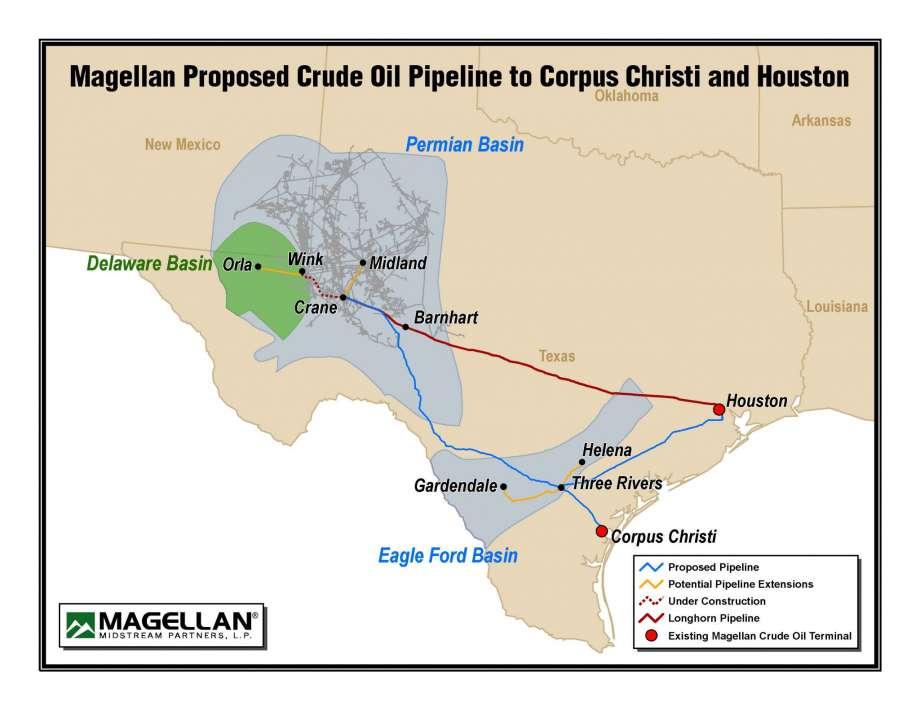 Magellan Midstream Pipeline Map