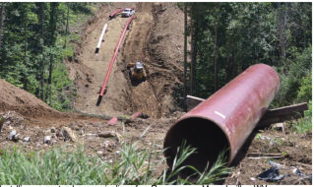Installing a natural gas pipeline for Rover near Moundsville, WV. Photographer: Peter Smith/Post-Gazette