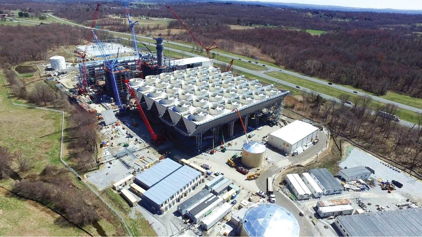 Millennium's proposed lateral would deliver natural gas to this new 680MW CPV Valley Energy Center in Wawayanda, NY.  The combined-cycle electric  generating station is scheduled to begin commercial operation in early 2018. Photo courtesy of Competitive Power Ventures.