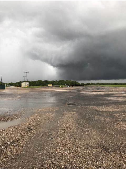 A pair of tornadoes passed at the north end of the mill.