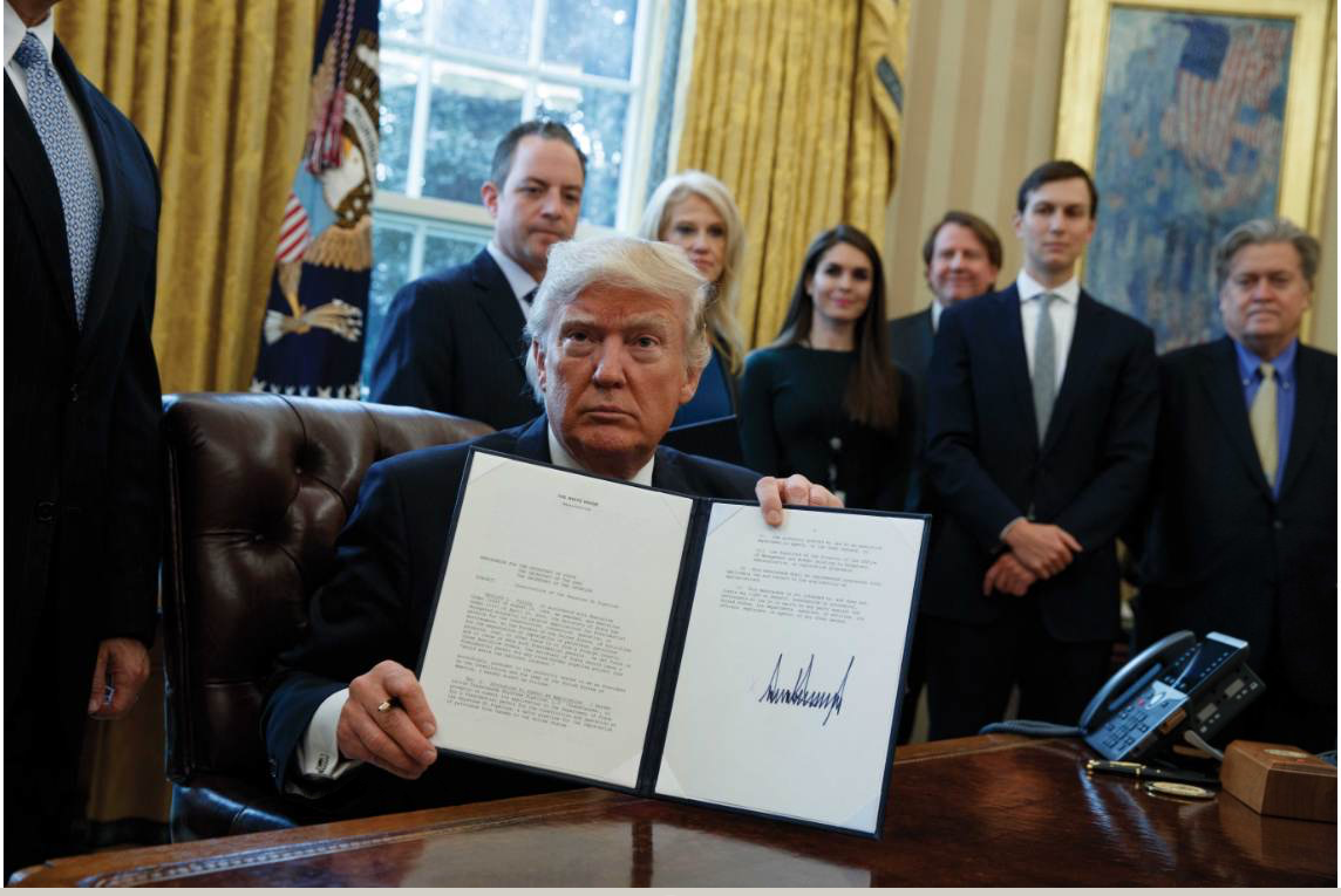 President Trump signs Dakota Access and Keystone XL orders.
