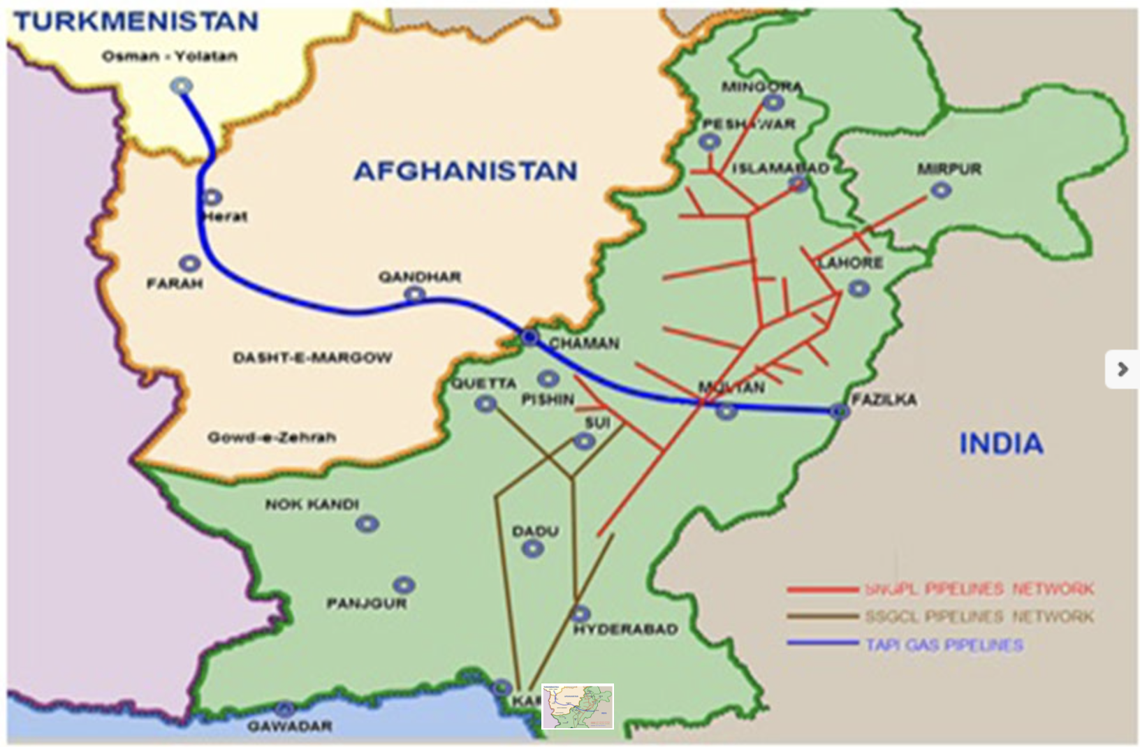 TAPI Pipeline map