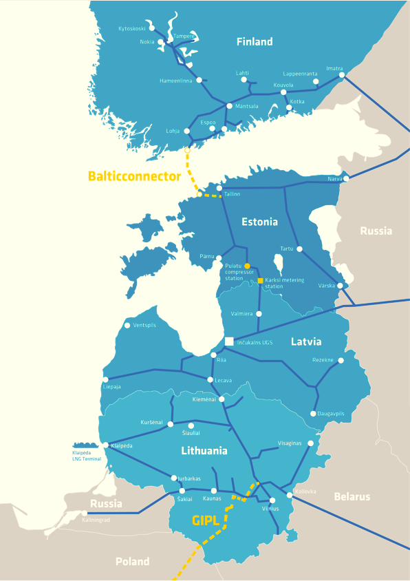 Balticconnector Pipeline map