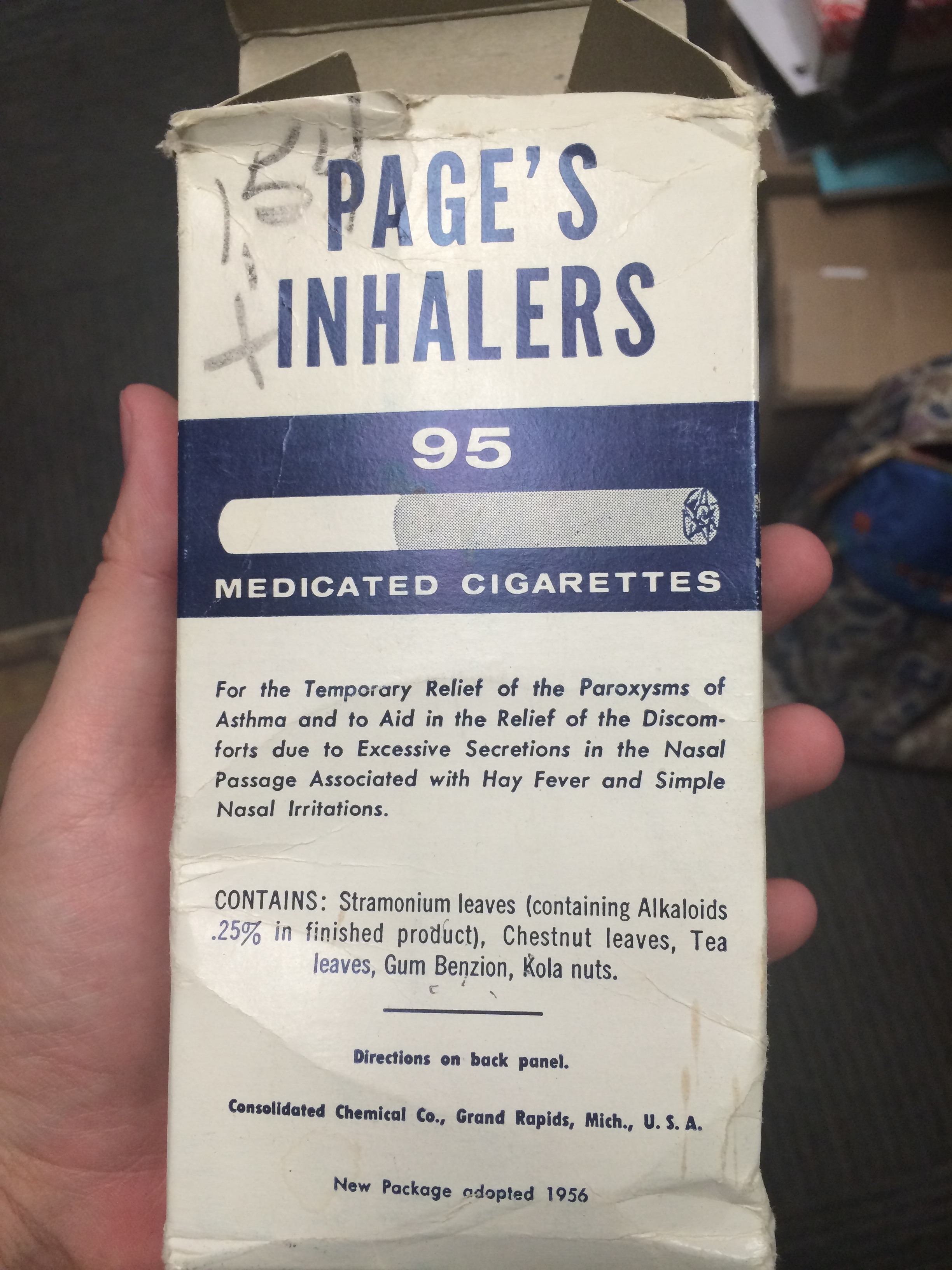 what were asthma cigarettes