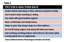 Healthy Back Tips