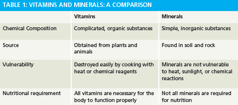 Vitamins And Minerals Explained