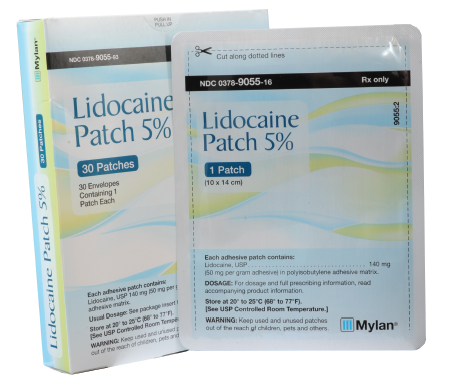 lidocaine patch emc