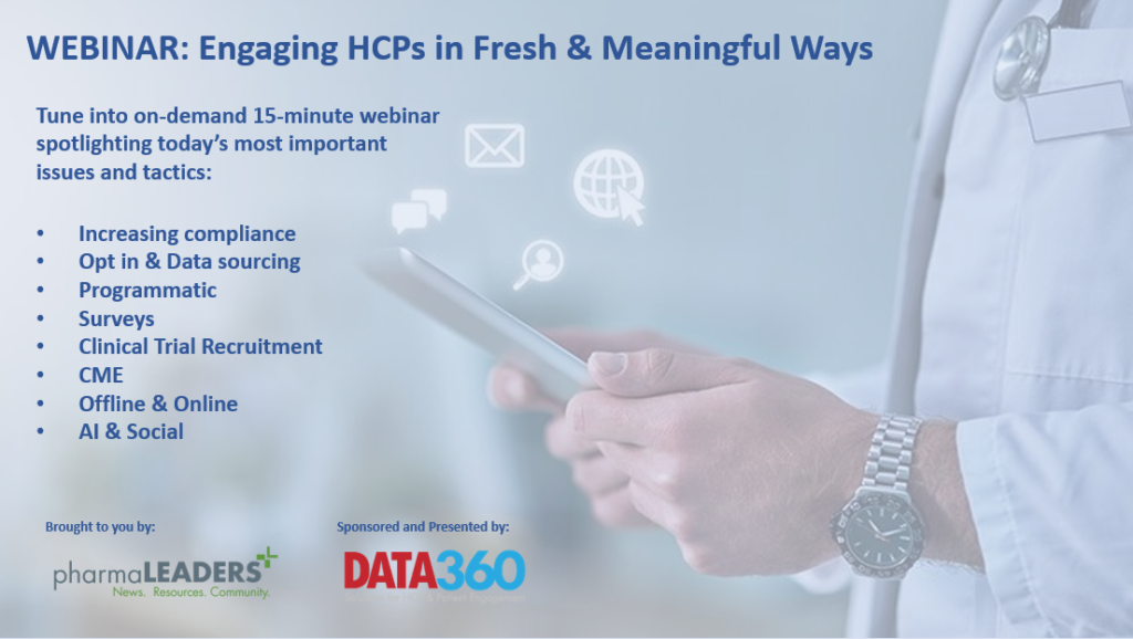Agenda for Webinar: Engaging HCPs