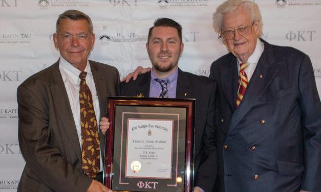 J.J. Lewis Receives Thomas L. Stennis Award