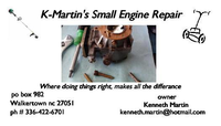 K-Martin's small engine repair image